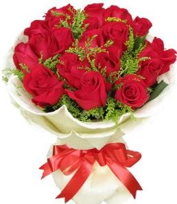 19 adet kırmızı gülden buket tanzimi  İzmit ucuz çiçek gönder