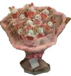 12 adet tavşan buketi  İzmit hediye çiçek yolla