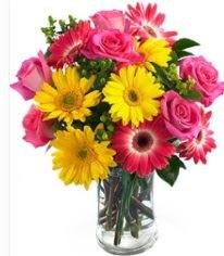 Vazoda Karışık mevsim çiçeği  İzmit çiçek servisi , çiçekçi adresleri
