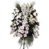 İzmit İnternetten çiçek siparişi  Ferforje beyaz renkli kazablanka