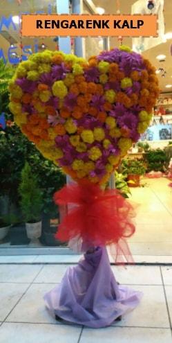 Ankara mevsim çiçeklerinden kalp perförje  İzmit uluslararası çiçek gönderme