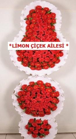 3 katlı kırmızı düğün açılış çiçeği  İzmit cicekciler , cicek siparisi