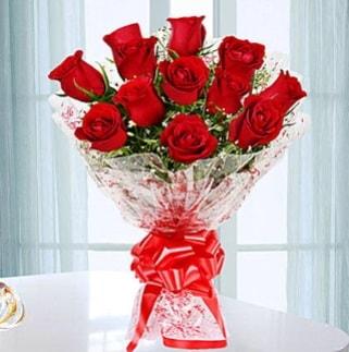 11 adet kırmızı gülden görsel şık buket  İzmit hediye sevgilime hediye çiçek
