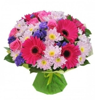 Karışık mevsim buketi mevsimsel buket  İzmit 14 şubat sevgililer günü çiçek