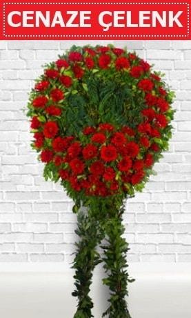 Kırmızı Çelenk Cenaze çiçeği  İzmit çiçek siparişi vermek