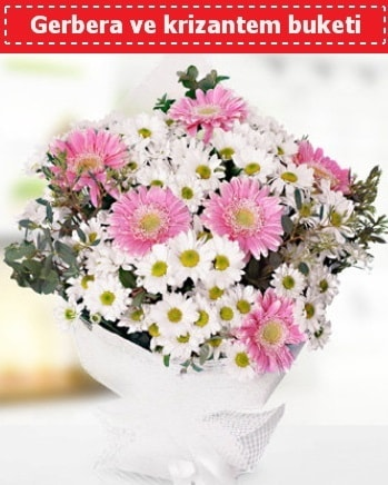 Papatya ve Gerbera Buketi  İzmit anneler günü çiçek yolla