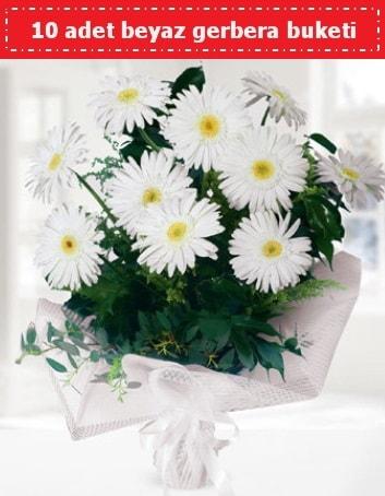 10 Adet beyaz gerbera buketi  İzmit anneler günü çiçek yolla