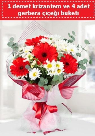 Krizantem ve Gerbera Buketi  İzmit çiçek mağazası , çiçekçi adresleri