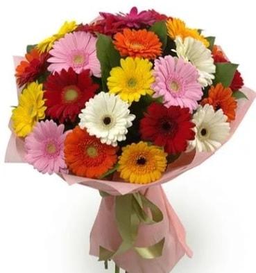 Karışık büyük boy gerbera çiçek buketi  İzmit 14 şubat sevgililer günü çiçek